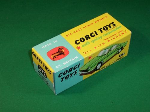"Corgi #222 Renault Floride - Reproduction Box - "" For the Green model"""